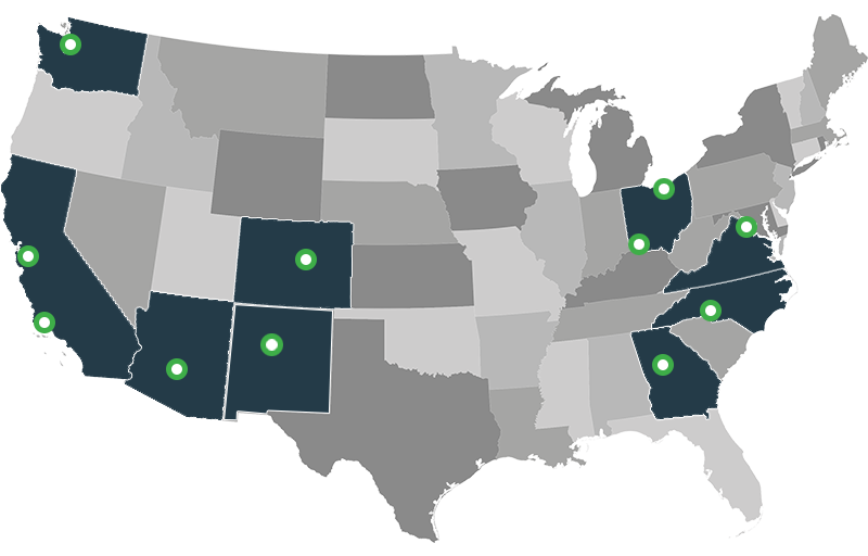 Data Centers - Map of us data centers